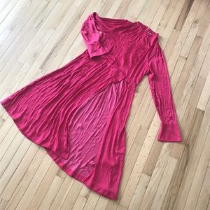 Free People boho magenta dress
